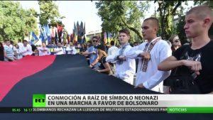 Video: Símbolos neonazis en una marcha a favor de Bolsonaro conmocionan Brasil