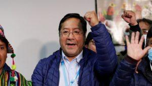 El júbilo de los socialistas Arce y Choquehuanca al enterarse de su triunfo en comicios de Bolivia