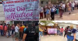 """Videos: """"Feliz día de todas las Madres"""": """"El Mencho"""", líder del Cartel Jalisco Nueva Generación. Reparte regalos en Michoacán y Jalisco"""