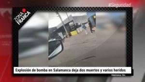 Videos: Terroristas dejan caja con explosivos en un local, en Salamanca, Guanajuato. Al menos 2 muertos