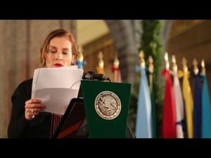 Video  Bienvenidos al ombligo de la luna (Ciudad de México), según etimoloía náhuatl, dijo Beatriz Gutiérrez Müller a asistentes a la Cubre de la Celac