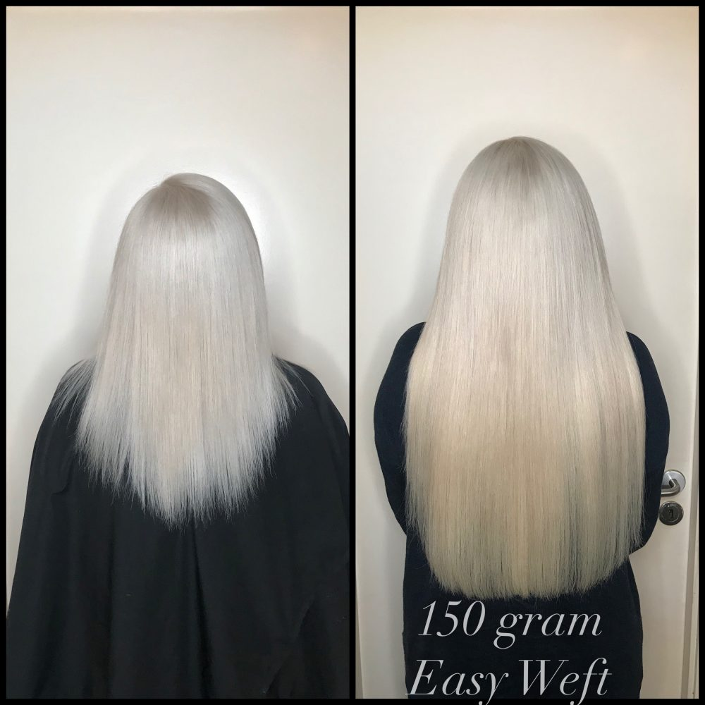 blond extension easy weft