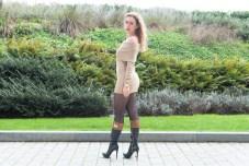 ZLATINA BROWN DRESS-9