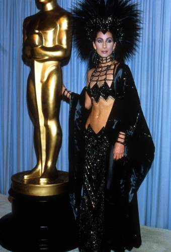 "353424 09: Actress Cher attends the Academy Awards March 24, 1986 in Los Angeles, CA. Cher would later win the 1988 Best Actress Oscar for her role as Loretta Castorini in ""Moonstruck."" (Photo by Julian Wasser/Liaison)"