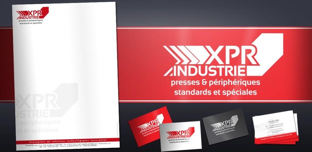 Industriel : XPR Industrie, logo et papéterie