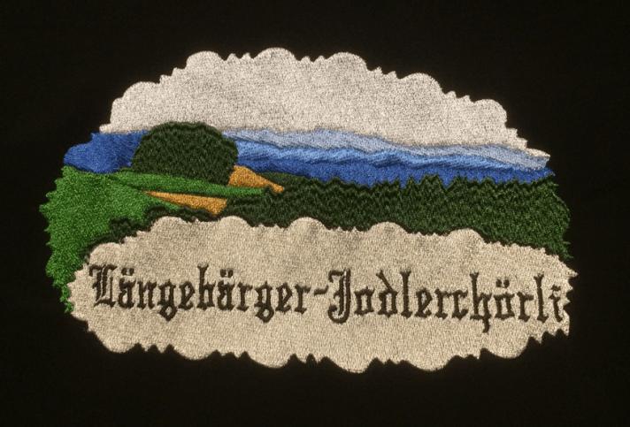 Längebärger Jodlerchörli: Das Logo gestickt