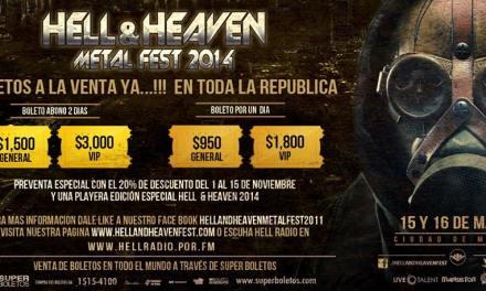 Hell And Heaven Metal Fest 2014 | 15 y 16 de Marzo 2014