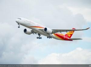 Airbus : premier vol pour l'A350 Hong Kong Airlines (vidéo)