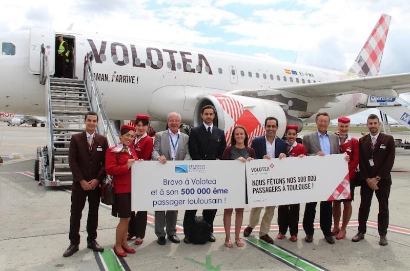 Volotea franchit le cap des 500 000 passagers à Toulouse