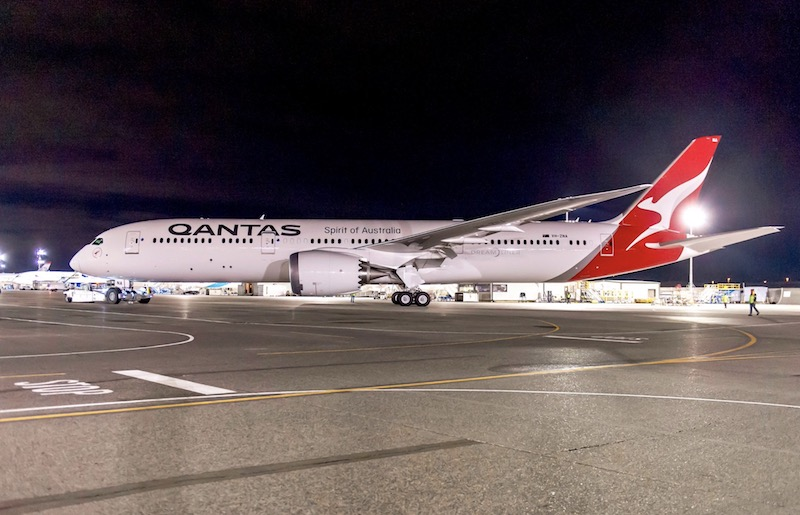 Qantas : premier vol long-courrier pour le 787-9