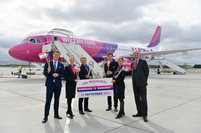 Wizz Air se pose à Bordeaux