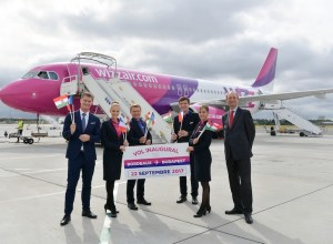 Wizz_Air_vol_inaugural_Bordeaux-Budapest