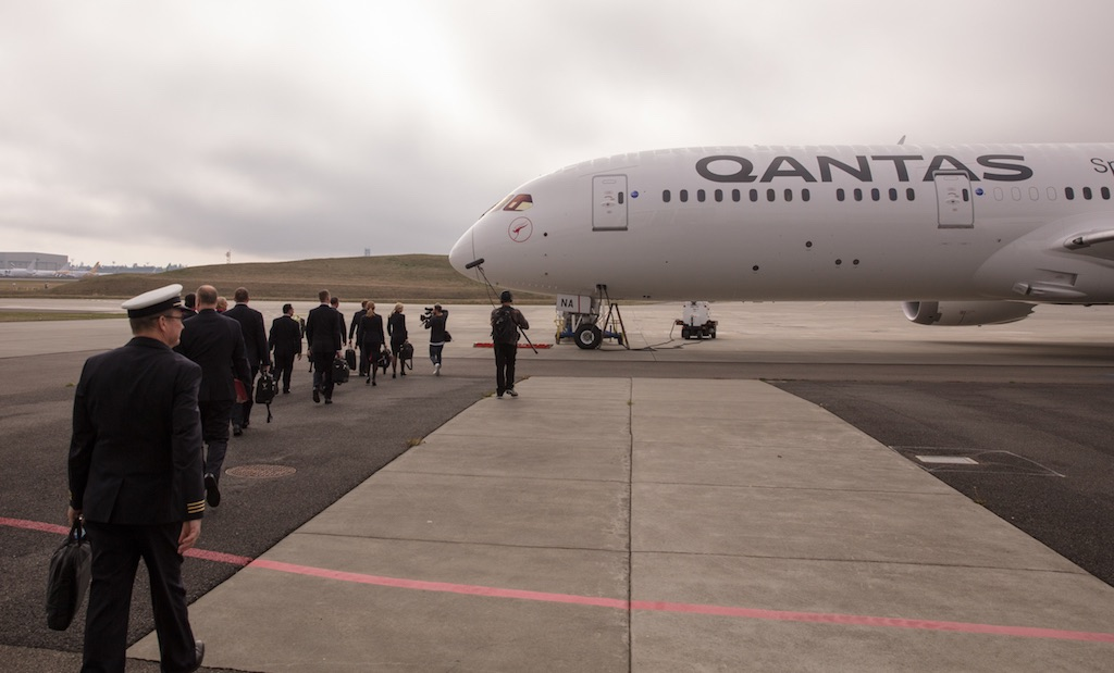 Qantas reçoit son premier 787