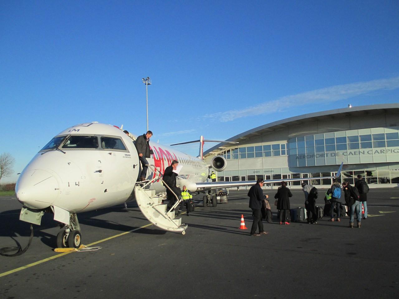 Aéroport de Caen : fréquentation record en 2017