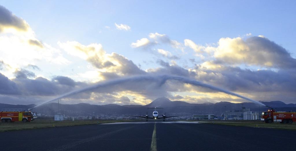 Twin Jet inaugure sa liaison entre Lyon et Clermont-Ferrand