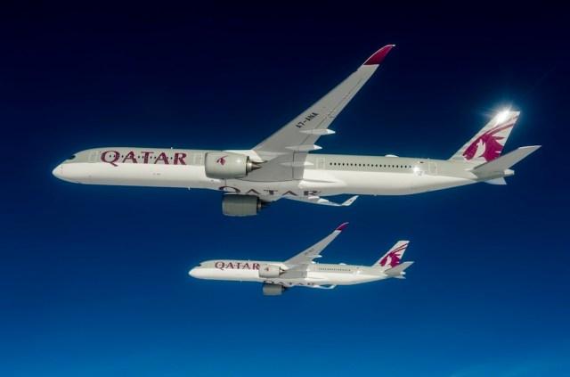 A350-1000-and-A350-900-Qatar-formation-flight- - copie