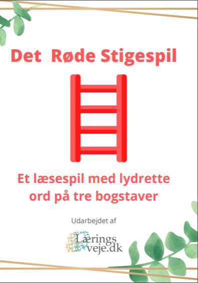 Det Røde Stigespil - Et læsespil med lydrette ord på tre bogstaver