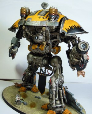 Rear view of the Imperial Knight