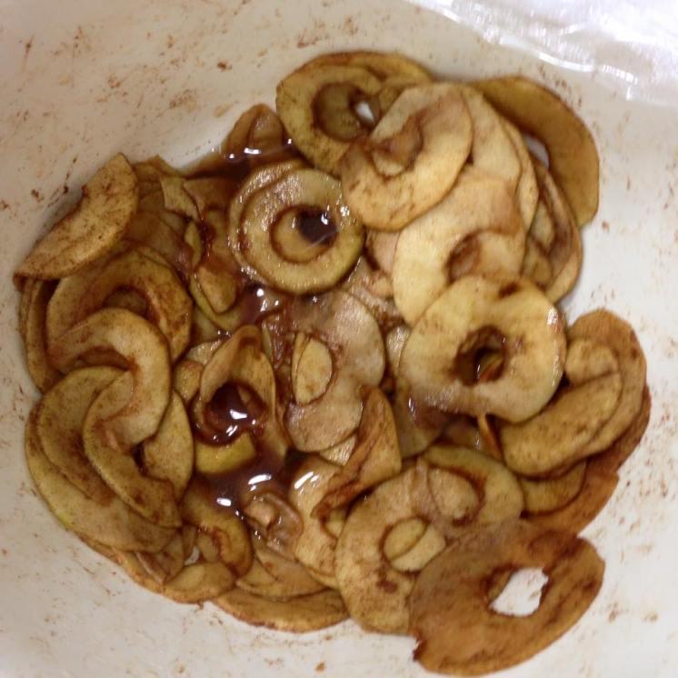 Manzanas deshidratadas con canela