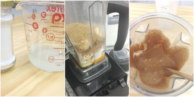 Agregar polvo de hornear y aceite de coco a la masa