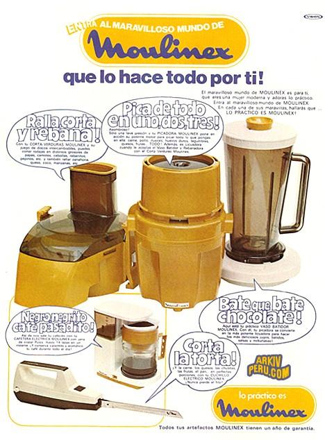 Pica Todo Moulinex, súper popular en los años 80s.