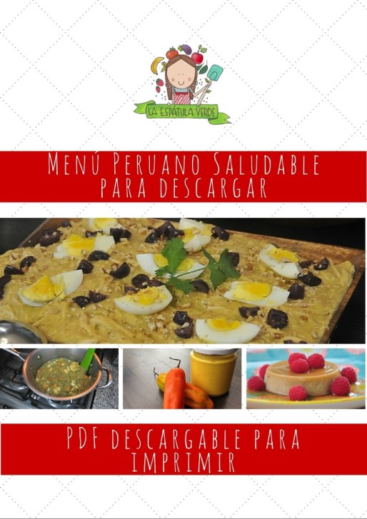 Menú cocina peruana saludable - PDF para descargar