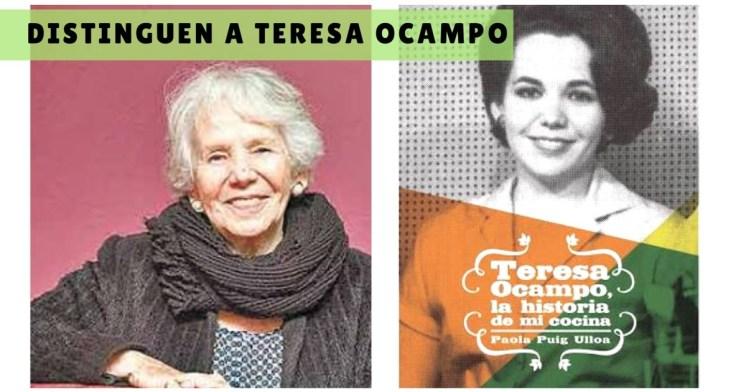 Distinguen a Teresa Ocampo