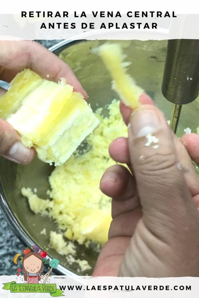 Receta de un cremoso puré de yuca y queso