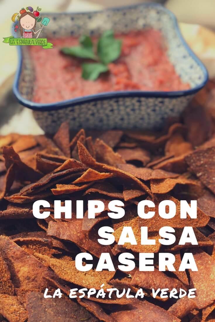 Chips con salsa hecha en casa