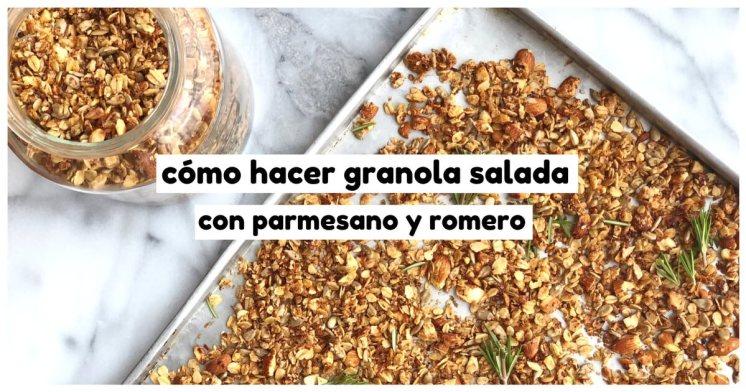 Granola salada con parmesano y romero