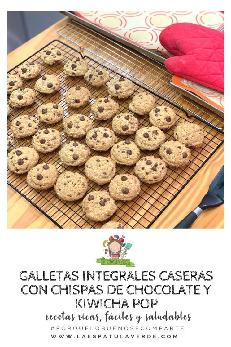 Galletas integrales caseras con chispas de chocolate y kiwicha pop