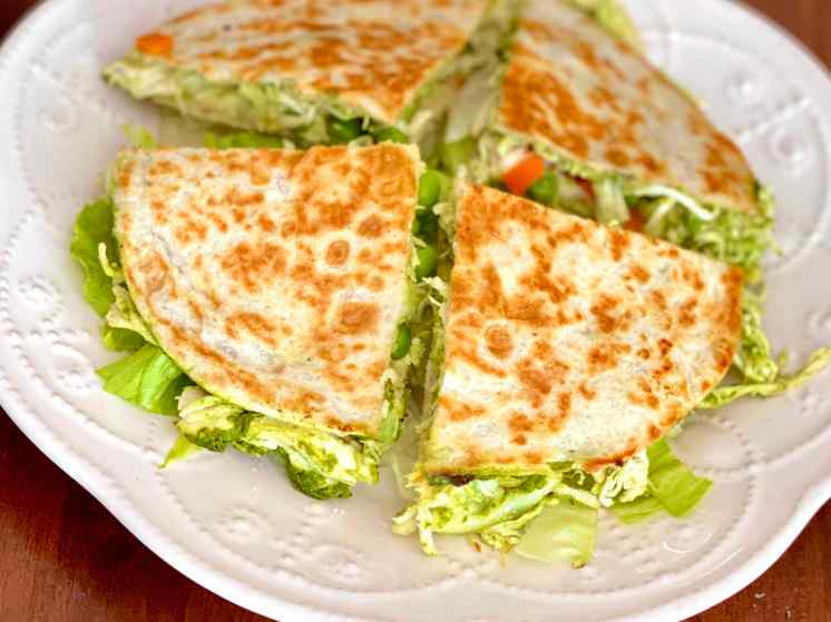 tortillas verdes con pesto