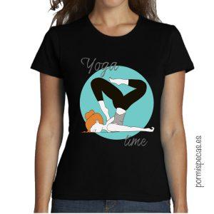 yoga time camiseta divertida humor para chica compra envio gratis en peninsula españa