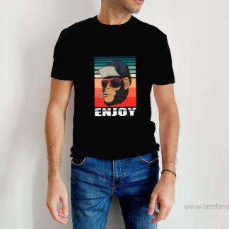 camiseta mono fumeta enjoy humor para hombres