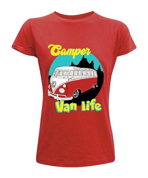 CAMPER LIFE camiseta volkswagen van life diseño personalizado hombre mujer