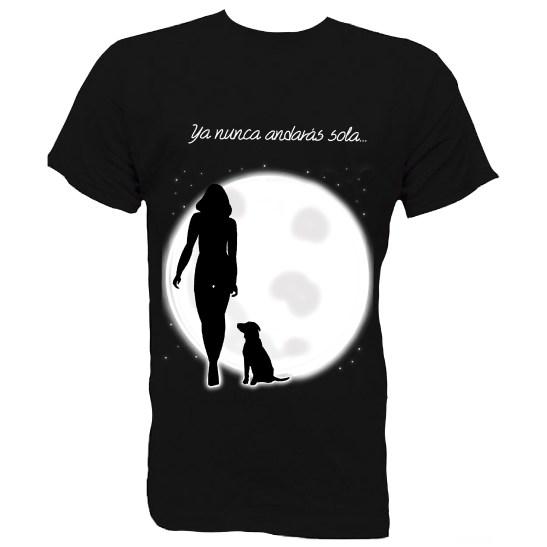 camisetas nunca sola perros mascotas dogs will never walk alone. shirts. camisetas ilustradas.camisetas con alma. camisetas con mensajes.