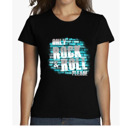 only rock and roll please camiseta chica chico ladrillos musica spotify shirt man woman t-shirt camisetas impresas estampadas personalizadas
