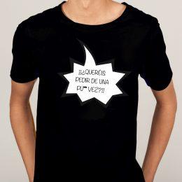 camarera camiseta negra humor para chica quereis pedir de una vez