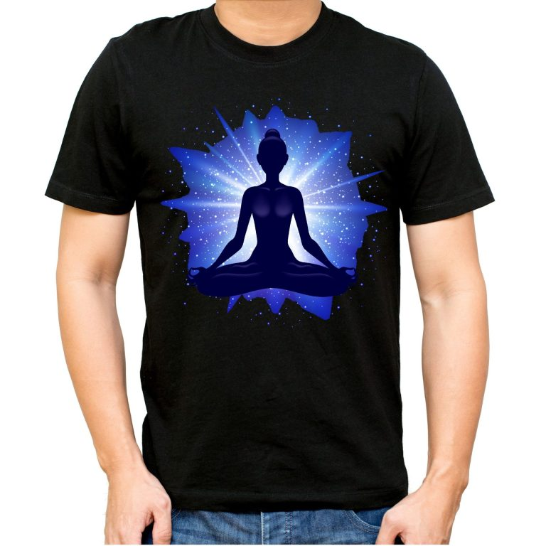 Camiseta chico unisex meditacion yoga iluminacion moda joven camisetas ilustradas imagenes camisetas merchandising camisetas personalizadas