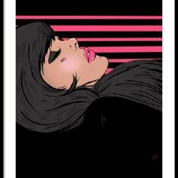 lamina pop art chica ilustracion retro comic girl chica dormida decoracion casa hogar cuadros laminas prints para decorar