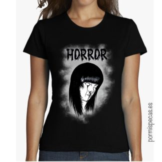 Horror girl camiseta black negro