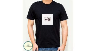 camiseta retro cassette chico color negro camisetas baratas