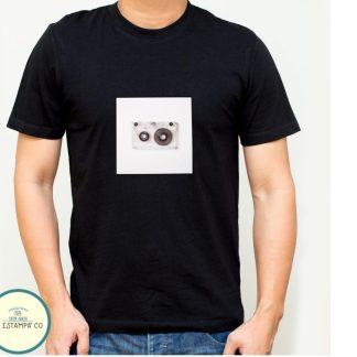 camiseta retro cassette chico color negro camisetas baratas
