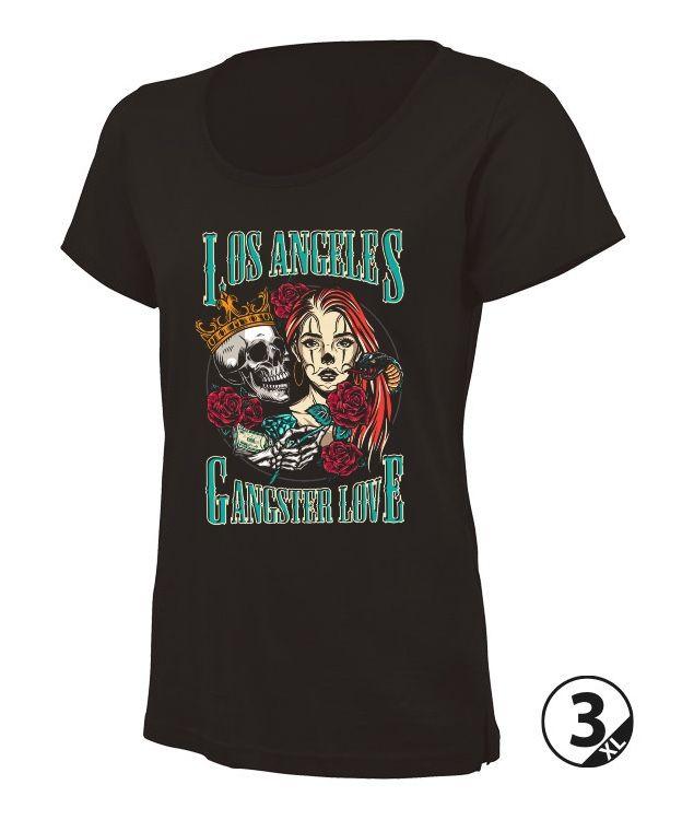 camiseta negra chica basica manga corta chicana tattoo los angeles camisetas bonitas