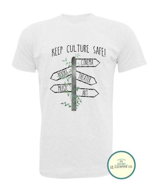 camiseta save the culture señales camiseta hombre color blanco camietas originales