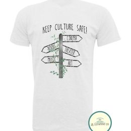 camiseta save the culture señales camiseta hombre color blanco camietas originales