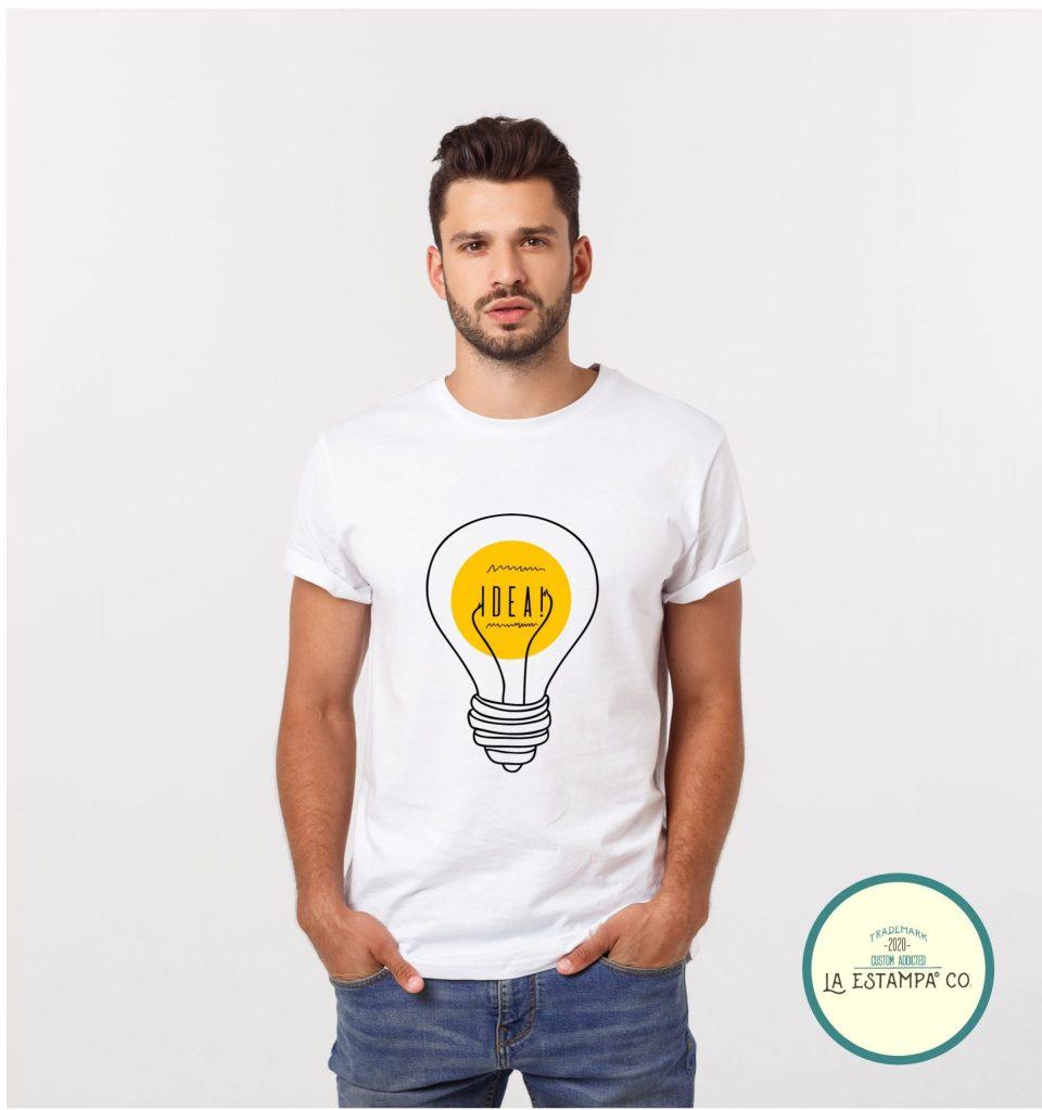 camiseta idea chico humor