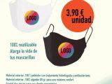 Mascarillas personalizadas con logotipo 100 unidades