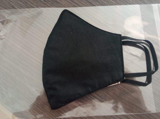 Mascarilla de tela de algodon 100 % con filtro FFP2 lavable y reutilizable hasta 85 lavados
