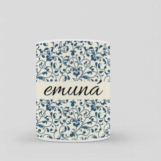 emuna taza de desayuno de diseño arabesco
